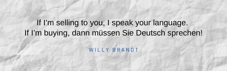 Citation sur l'export de Willy Brandt