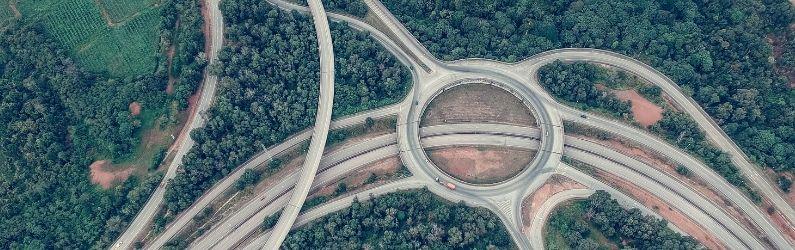 échangeur route autoroutes
